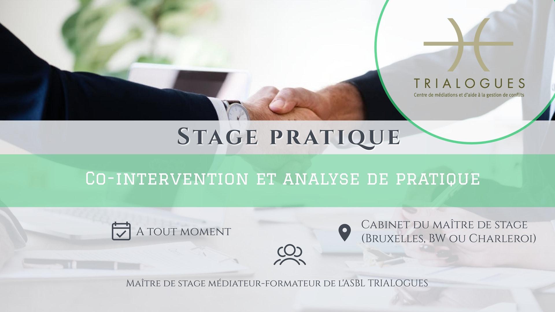 STAGE PRATIQUE - Co-intervention et analyse de pratique