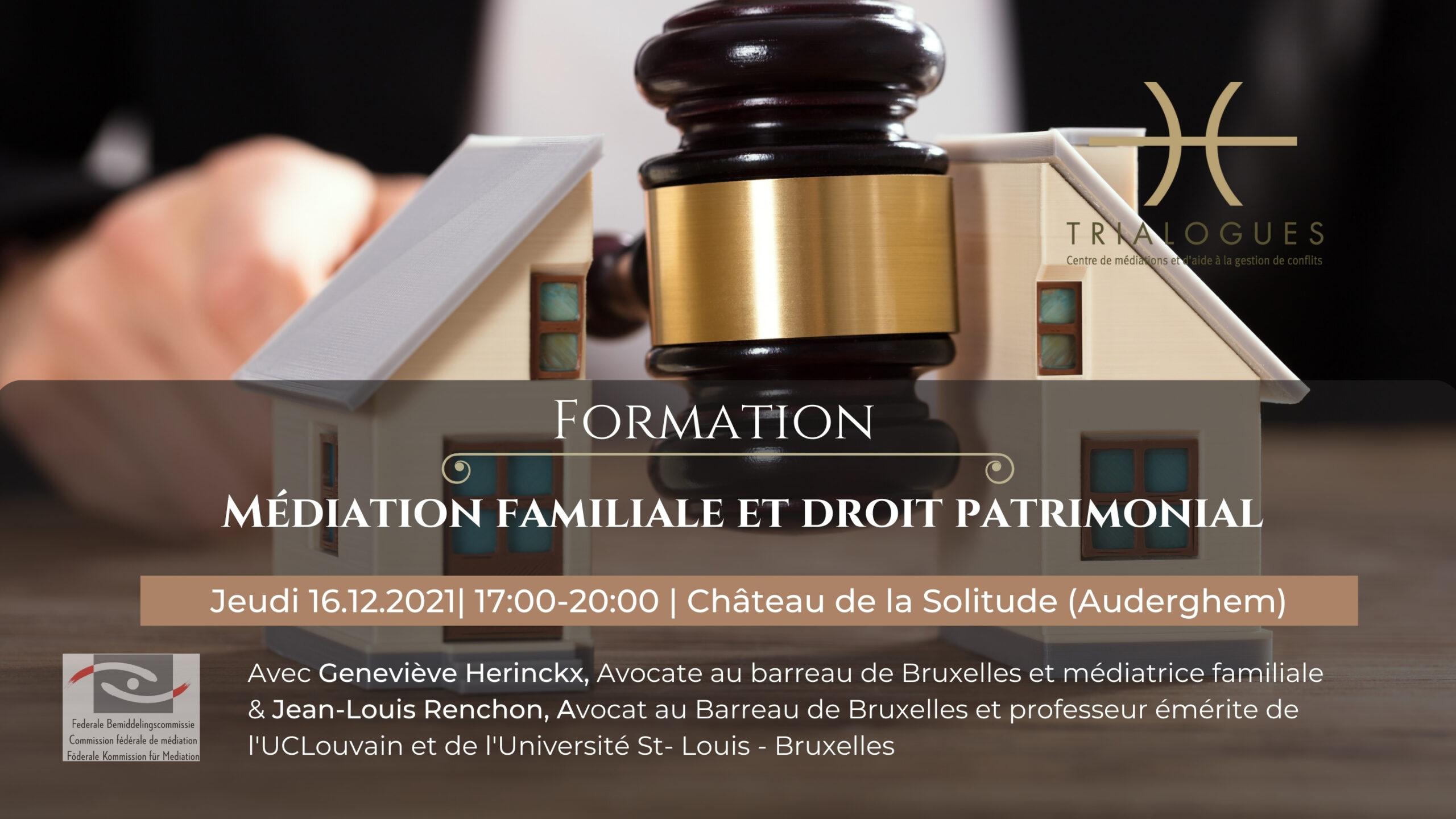 Médiation familiale et droit patrimonial